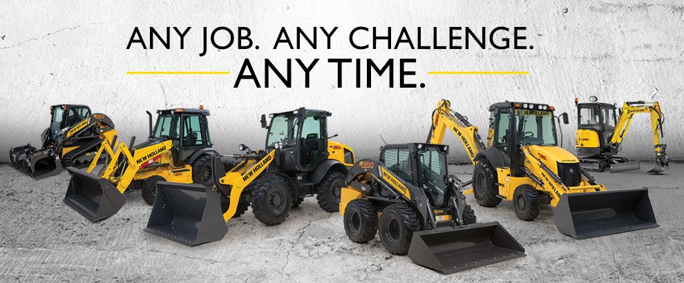New Holland construction equipment: any job, any challenge, any time